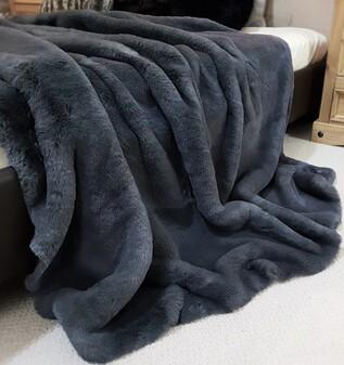 SECONDS Slate Grey Faux Fur Fabric Per Meter