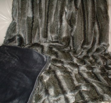 SALE Medium Throw Smokey Mountain with Graphite Velboa