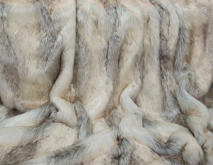 Snow Wolf Faux Fur SECONDS
