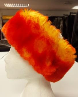 SALE Tequila Sunrise Faux Fur Headband
