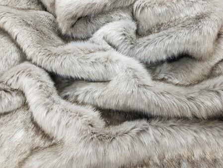 SECONDS Tissavel Tundra Grey Faux Fur Fabric Per Meter