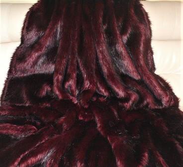 Tuscan Red Faux Fur SECONDS Mega Sale
