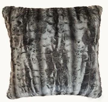 Vintage Silver Astra Faux Fur Cushions