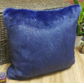 Violet Mink Faux Fur Cushions