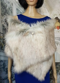 Snow Wolf Faux Fur Flapper