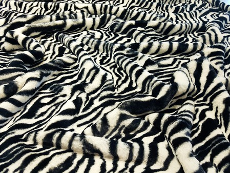 Zebra Faux Fur Swatch