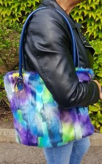 Tissavel Aurora Faux Fur Tote Handbag