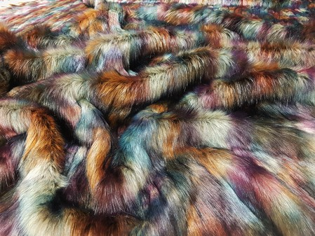 Bordeaux Faux Fur Fabric Limited Edition