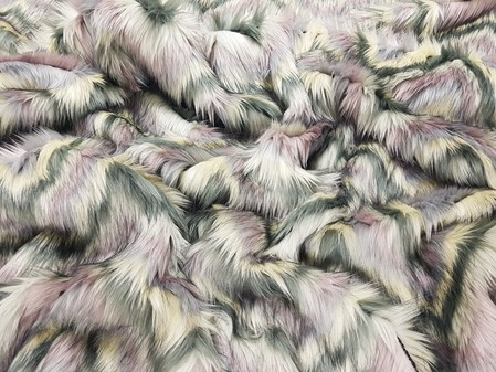 Lilac Chevron Faux Fur Fabric Limited Edition