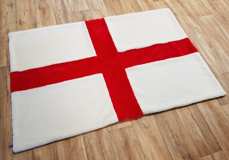 St. George's Cross Faux Fur Flag