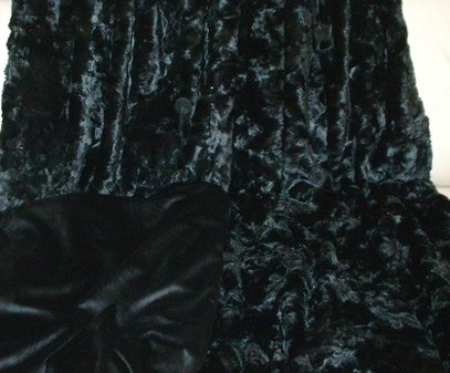 SALE Lap Throw Black Astra & Black Velboa