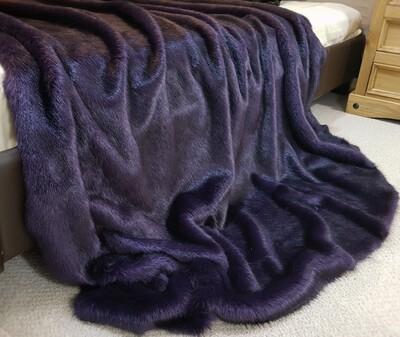 SECONDS Amethyst Faux Fur Fabric Per Meter