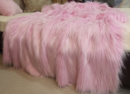 Candy Faux Fur Throws