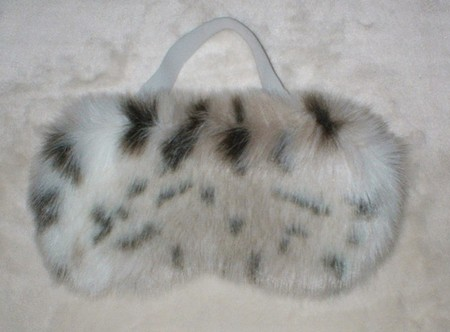 Lynx Faux Fur Eye Mask