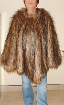 Simba Faux Fur Poncho