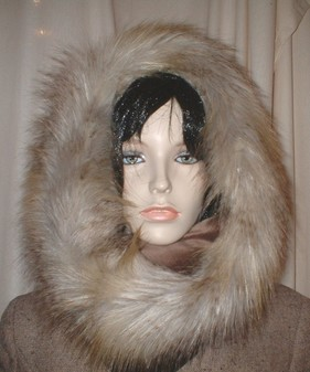 Coyote Faux Fur Cowl/ Neck Warmer