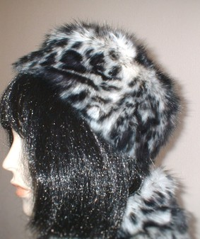 Panther Faux Fur Pill Box Hat