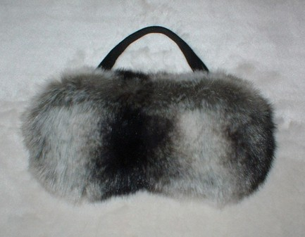 Chinchilla Faux Fur Eye Mask