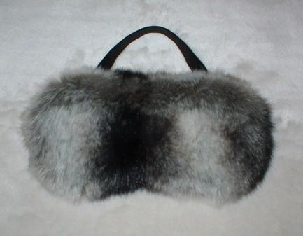 Chinchilla Faux Fur Eye Mask