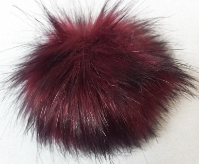 Tuscan Red Faux Fur Pom Pom