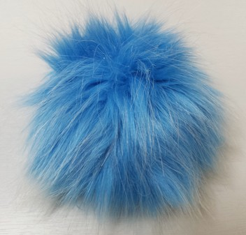 Sky Blue Faux Fur Pom Pom