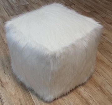Polar Bear Faux Fur Pouffes