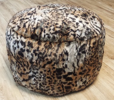 Jungle Cat Faux Fur Pouffes