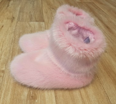 Pink Smoothie Faux Fur Booties