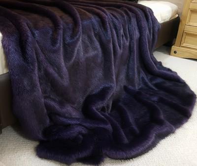 Amethyst Mink Faux Fur Swatch