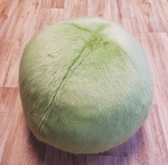 Pistachio Faux Fur Ball