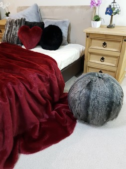 Grey Wolf Faux Fur Ball