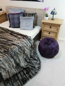 Royal Purple Faux Fur Ball