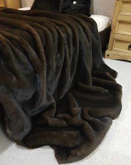 Brown Softee Faux Fur Throws