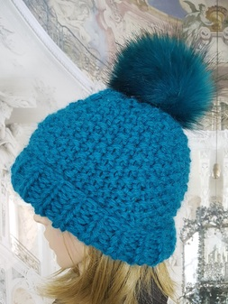 Jade Knitted Bobble Hats