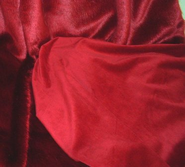 Cherry Red Silk Velboa Per Meter