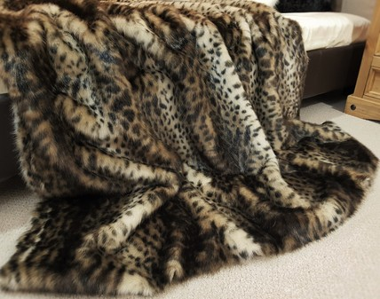 New Ocelot Faux Fur Throws