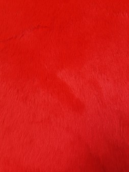 Red Fun Faux Fur Per Meter