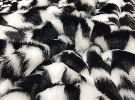 Tissavel Houndstooth Faux Fur Fabric Per Meter