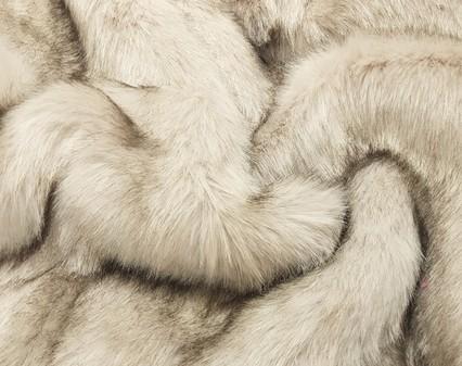 Tissavel Tundra Wolf Cream Faux Fur Per Meter