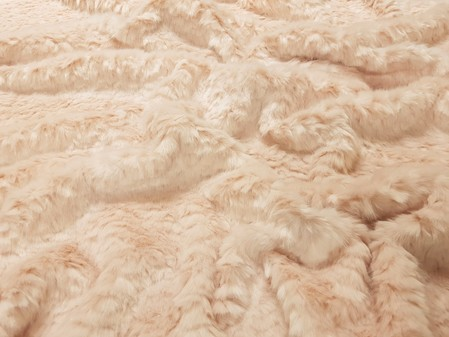 Tissavel Raspberry Ripple Faux Fur Fabric Per Meter