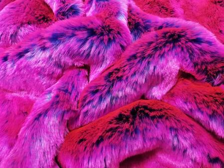 Tissavel Pink Panther Faux Fur per meter