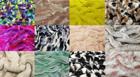 Tissavel Faux Fur Set of Small Swatches