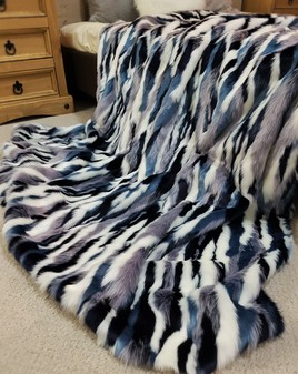 Tissavel Harlequin Faux Fur Throws