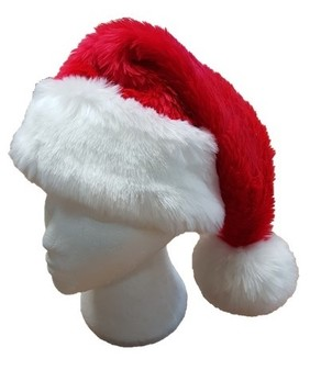 Luxury Faux Fur Santa Hat