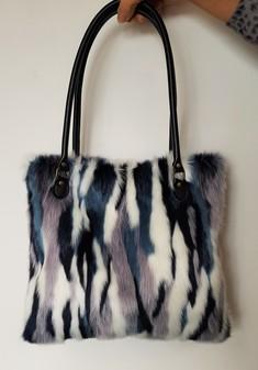 Tissavel Harlequin Faux Fur Tote Bag