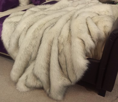 SALE Lap Throw Alaska Faux Fur Both Sides