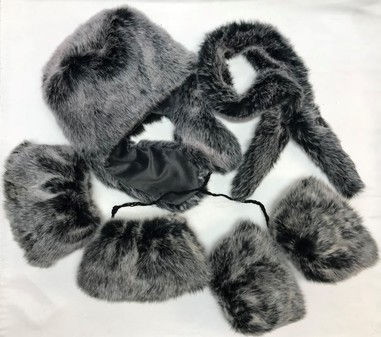 SALE Arctic Faux Fur Trapper Hat, Boot Toppers, Cuffs & Slim Collar Set