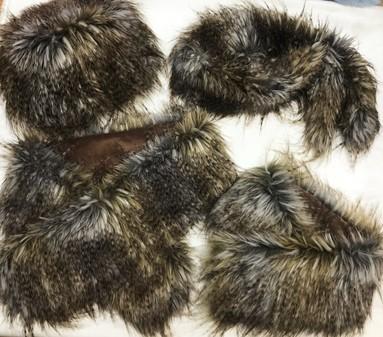 SALE Tundra Faux Fur Hat, Slim Collar, Long Collar & Pull Through Scarf Set