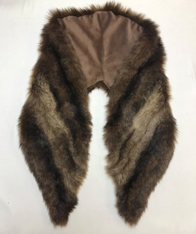 SALE Russian Sable Faux Fur Shawl Collar
