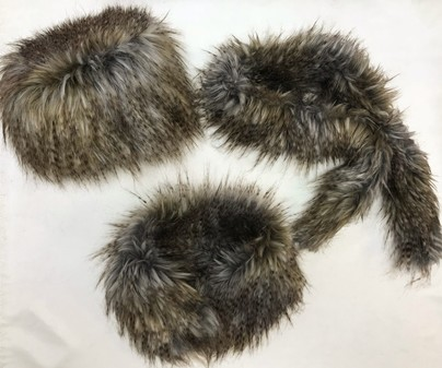 SALE Tundra Faux Fur Hat, Collar & Slim Collar Set